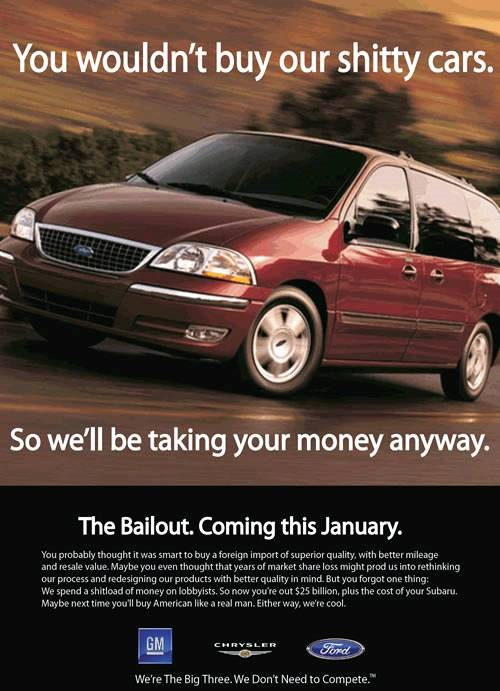 big three auto bailout ad