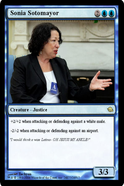 Sonia Sotomayor Supreme Court Magic Card